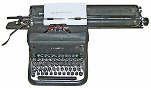rare 1944 Lc Smith Corona Super speed Typewriter W 20 Carriage Decimal Tab