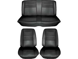 1967 Chevelle Standard Seat Upholstery Full Set Black Coupe