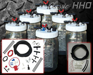Classic hho 6 Cell System W Premium Dual Supply Hook up Kit Hydrogen Generator