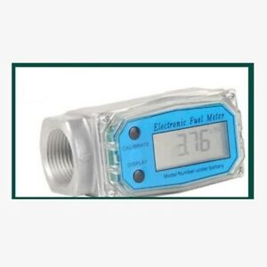 1 5 Inch Turbine Digital Diesel Fuel Flow Meter Lcd Bspt npt 300psi