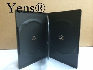 Yens 50 Premium 4 Disc Black Cd Dvd Case 14mm Movie Box 50 bdvd4