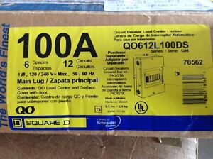 Square D Circuit Breaker Load Center Qo612l100ds