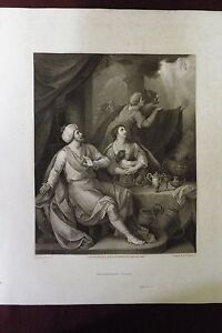 1800 Macklin Bible Engraving Belshazzar S Feast