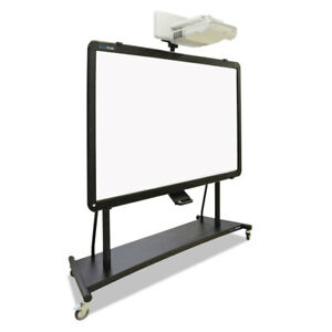 Interactive Board Mobile Stand With Projector Arm 76w X 26d X 86h Black