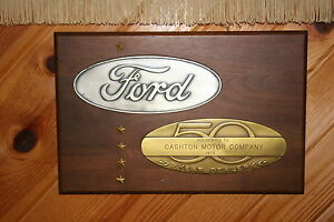 Mint Original Ford Dealer 50 Year Award Cashton Motors From Cashton Wisconsin