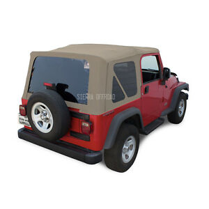 Jeep Wrangler Tj Soft Top 03 06 Tinted Windows Parchment Sailcloth