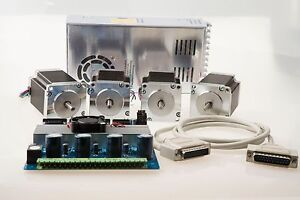 Superior Step Stepper Motor Nema 23 270oz in 4wire 4 Axis Kit Italy Eu Free Ship