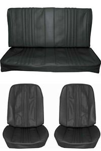1970 Chevelle Standard Seat Upholstery Full Set Coupe Black