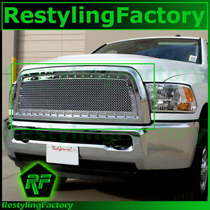 10 12 Dodge Ram 2500 3500 Hd Chrome Replacement Rivet Studded Mesh Grille Shell