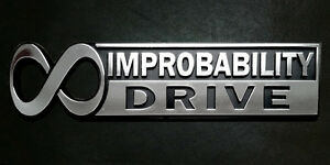 The Hitchhiker s Guide To The Galaxy infinite Improbability Drive Car Emblem