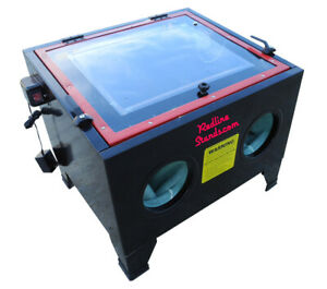 New Redline Benchtop Re26 Series Abrasive Sand Blaster Blast Cabinet Glass Media