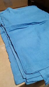 100 Premium Blue Huck Towels Glass Cleaning Janitorial Lintless Surgical Towels