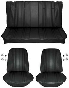 1969 Chevelle Standard Seat Upholstery Full Set Coupe Black
