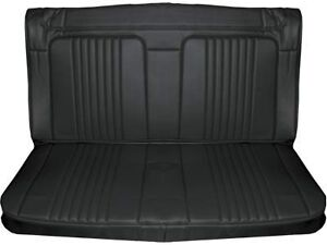 71 72 Chevelle Rear Seat Upholstery Black Coupe