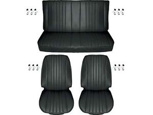 1968 Chevelle Standard Seat Upholstery Full Set Coupe Black