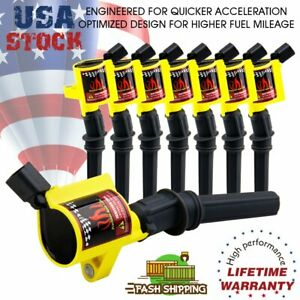 Super Ignition Coil Pack 8 For Ford F150 F250 F550 4 6 5 4l Dg508 V8 V10 Lincoln