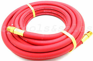 25ft X 1 4 Id Continental Red Rubber Air Hose Compressor 250psi Home Shop