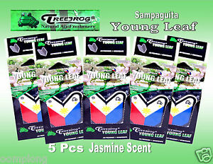 5 Packs Treefrog Sampaguita Young Leaf Car Air Freshener Jasmine Scent jdm