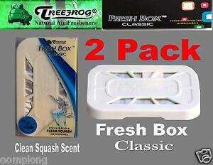2 Pack Treefrog Fresh Box Classic Car Home Air Freshener clean Squash Scent