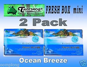 2 Pack Treefrog Fresh Box Mini Ocean Breeze Scent Car Air Freshener jdm Product