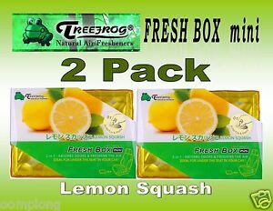 2 Pack Treefrog Fresh Box Mini Lemon Squash Scent Car Air Freshener jdm Product