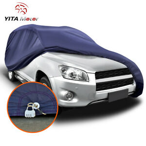 Yitamotor Universal Suv Fit Cover Outdoor Waterproof Rain Sun Resistant W Lock