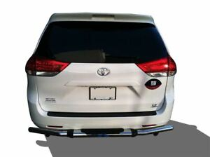 Apu Fits 04 20 Toyota Sienna Rear Bumper Guard Stainless Steel Single Tube W pad