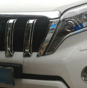 For Toyota Land Cruiser Prado J150 2014 2015 Front Center Grill Grilles Cover