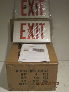Astralite Led Exit Light Emergency Tp u r w em New In Box free Shipping bnib