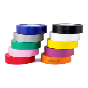 Tapessupply Free Shipping 10 Rolls Rainbow Electrical Tape 3 4 X 66 Ft