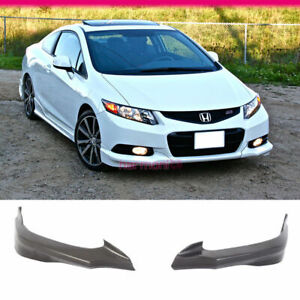 Fits 12 13 Honda Civic 9th Gen Coupe 2dr Hfp Front Bumper Lip Pu