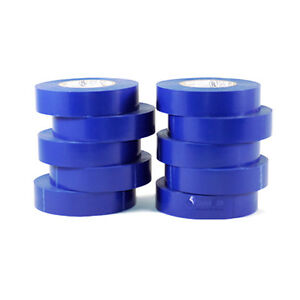 Tapessupply 10 Rolls Pack Blue Electrical Tape 3 4 X 66 Ft