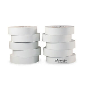 Tapessupply 10 Rolls Pack White Electrical Tape 3 4 X 66 Ft