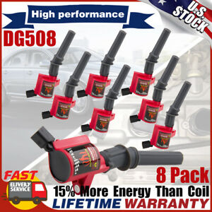 High Energy Ignition Coil Pack For Ford F150 F250 F550 4 6 5 4l Dg508 V8 Lincoln