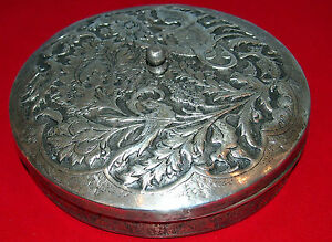 Oriental 900 Silver Candy With Top Qajar 19 C Bird Design Rare By Mahmoud
