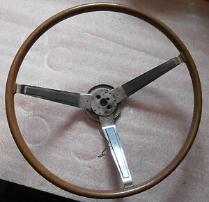 1967 Dodge Charger Wood Steering Wheel Used 2530250