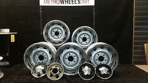 14x5 5 Original Mopar Dodge Rally Wheels With Used Centercaps And Rings