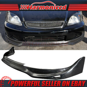 Fits 99 00 Honda Civic Jun style Front Bumper Lip Spoiler Bodykit Pu