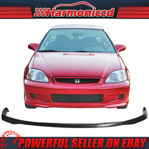 Fits 99 00 Honda Civic Ek Sir Front Bumper Lip Spoiler Bodykit Pu