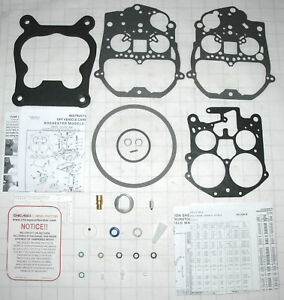 1979 81 Carb Kit Rochester Q Jet 4 Barrel Corvette Chevy V8 305 350 Engines