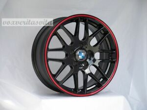 18 Wheels Rims Csl Style Black M3 Mesh Fits Bmw E46 E90 E92 E93 F30 F32 F33