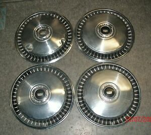Set Of Four 1971 72 Ford Galaxie 15 Hubcaps
