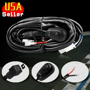 Wiring Harness Kit 8ft 12v 40a Relay Fuse Switch On off For Led Work Light Bar