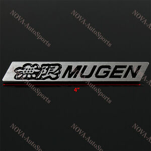 3d Car Trunk Emblem Badge Sticker Decal Mugen Black For Honda Civic Aluminum