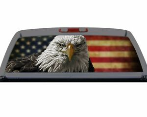 American Eagle Flag Rear Window Graphic Decal Truck Suv Perf Perferation Mural