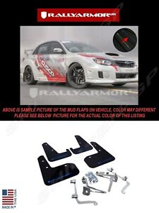 Rally Armor Black Mud Flaps W Blue Logo For 2011 2014 Subaru Wrx Sti Sedan
