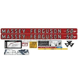 Massey ferguson Mf 50 Mf50 Tractor Complete Decal Set Us Made