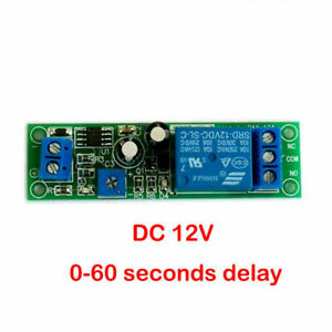 1 Pc 12 Vdc Adjustable On Delay Time 0 To 60 Seconds 10 Amp Relay Board X1