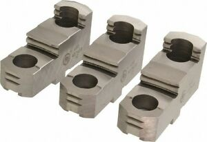 Bison Lathe Chuck Hard Top Jaws For Scroll Chuck 5in 3 jaw 3 Piece Set 7 883 305