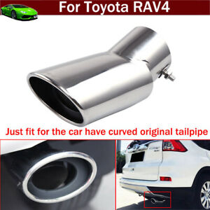 Stainless Steel Tailpipe Exhaust Muffler Tail Pipe Tip For Toyota Rav4 2013 2021